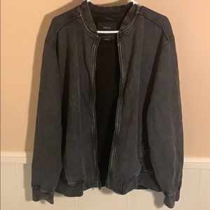 RVCA zip up soft jacket